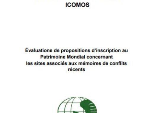 Évaluations de propositions d'inscription au Patrimoine Mondial concernant les sites associés aux mémoires de conflits récents