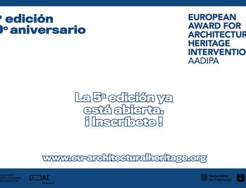 Abierta la inscripción para la 5ª edición del Premio Europeo de Intervención en el Patrimonio Arquitectónico