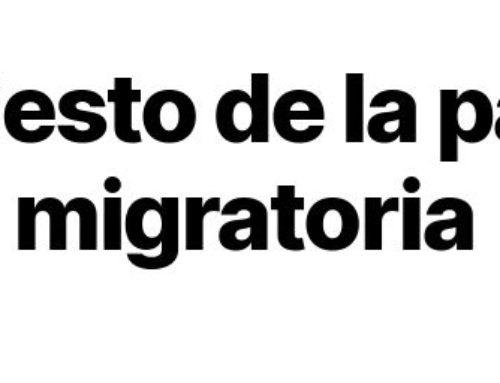Una llamada a las galerías, bibliotecas, archivos y museos públicos: Manifiesto de la paloma migratoria